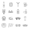 Oktoberfest icons set outline style vector image vector image