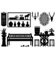 old antique traditional furniture design vector image vector image