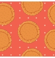 pastry dough seamless pattern for pizza or pie vector image vector image