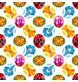 pattern of colored easter eggs vector image vector image