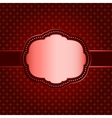 Red seamless geometric pattern with vintage frame vector image