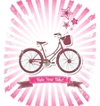 Ride your bike banner vector image