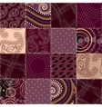 Seamless background patchwork vector image vector image