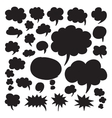 Speech Bubbles and Thought Clouds vector image vector image