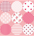 tile patchwork pattern with polka dots cupcakes vector image vector image