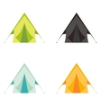 Tourist camp tents set isolated on white vector image vector image