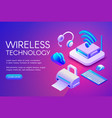 wireless devices technology vector image vector image
