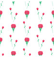 wrapping paper design with red flowers vector image vector image