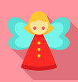 xmas fairy icon flat style vector image vector image