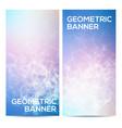 horizontal banners set with polygonal vector image