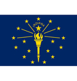Indiana Flag vector image