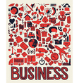 Set of hand drawing business doodle on white vector image