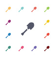 shovel flat icons set vector image