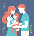 Silhouette of parents with baby girl