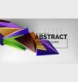 3d triangle geometric background design modern