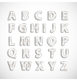 Alphabet letter set vector image