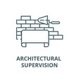 architectural supervision line icon vector image