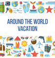 around the world flat pattern vector image vector image