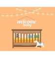 Baby room with bed vector image