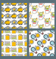 banking money financial services seamless pattern vector image