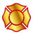 blank fire department logo base gold and red vector image vector image