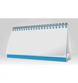 Blank Paper Desk Spiral Calendar vector image
