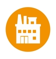 building factory isolated icon vector image vector image