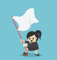 business woman hands has flag success in vector image