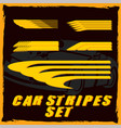 car stripe design set to print and cut on vinyl vector image vector image