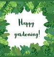 cartoon cute green leaves vector image vector image