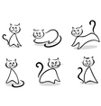 Cats and kittens vector image vector image