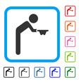 child beggar framed icon vector image vector image