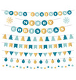 christmas decoration in blue and gold vector image vector image