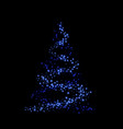 christmas tree card background blue christmas vector image