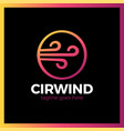 circle wind wave logotype vector image vector image
