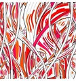 Colorful abstract hand-drawn pattern hairs vector image