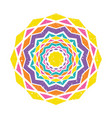 colorful mandala design vector image vector image
