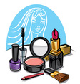 cosmetic make up kit vector image
