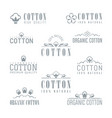 cotton isolated logo set vector image
