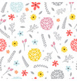 cute floral seamless pattern with flowers spring vector image vector image