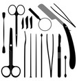 dissection tools equipment and kits a set of vector image vector image