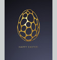easter greeting card with an image an easter vector image vector image