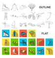 extreme sport flat icons in set collection for vector image vector image