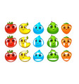 farm fruits match 3 - mobile game assets vector image vector image