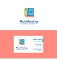 flat book and pencil logo and visiting card vector image vector image
