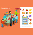 flat gambling colorful concept vector image vector image