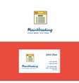 flat website logo and visiting card template vector image vector image