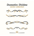 Flourish elements Hand drawn dividers set vector image vector image