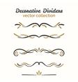flourish elements hand drawn dividers set vector image vector image
