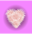 fur pink heart isolated vector image